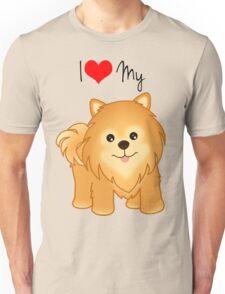 Cute Little Pomeranian Puppy Dog Unisex T-Shirt