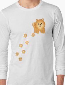 Cute Little Pomeranian Puppy Dog Long Sleeve T-Shirt