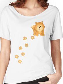 Cute Little Pomeranian Puppy Dog Women's Relaxed Fit T-Shirt