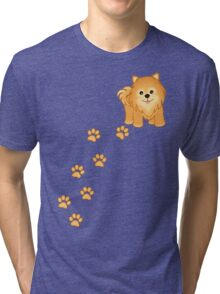 Cute Little Pomeranian Puppy Dog Tri-blend T-Shirt