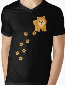 Cute Little Pomeranian Puppy Dog Mens V-Neck T-Shirt