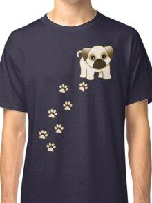 Cute Little Pug Puppy Dog Classic T-Shirt