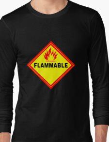 flammable waring signal Long Sleeve T-Shirt