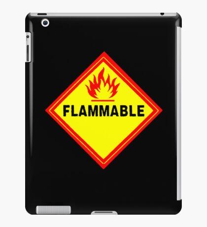 flammable waring signal iPad Case/Skin
