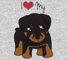 Cute Little Rottweiler Puppy Dog Kids Tee