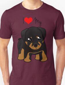 Cute Little Rottweiler Puppy Dog T-Shirt