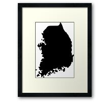 South Korea Framed Print