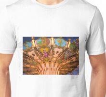 Ornate Swing Ride at Night on the Ocean City, NJ Boardwalk Unisex T-Shirt