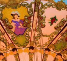 Ornate Swing Ride at Night on the Ocean City, NJ Boardwalk Sticker