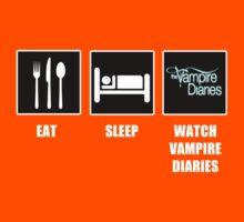Eat Sleep Watch Vampire Diaries Kids Clothes