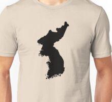 Map of Korea Unisex T-Shirt