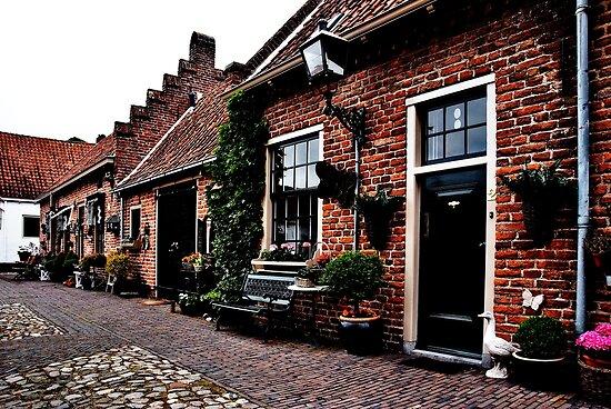 A historic street by Adri  Padmos