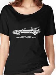 Delorean + text Women's Relaxed Fit T-Shirt