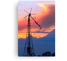 Seen Better Days Windmill Canvas Print