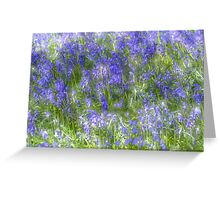 impressionist view of bluebells in spring Greeting Card