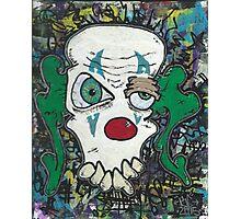 clown skull Photographic Print
