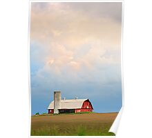 Barn and Evening Sky Poster