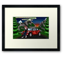 Soul and His new baby Mini Cooper Framed Print