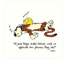 Calvin & Hobbes Art Print