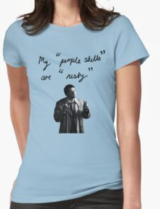 """My """"people skills"""" are """"rusty"""" Womens Fitted T-Shirt"""