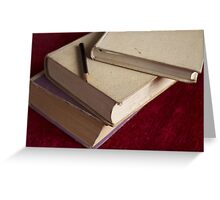 pencil and three books Greeting Card