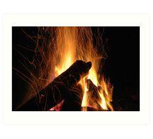 Hypnotic Flames Art Print