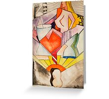 art, gonzo, abstraction Greeting Card