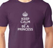 Keep Calm and Be a Princess - Pink Stripes Unisex T-Shirt