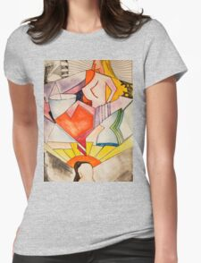art, gonzo, abstraction Womens Fitted T-Shirt
