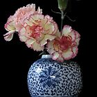Vase Of Flowers - Carnations. by Antony R James