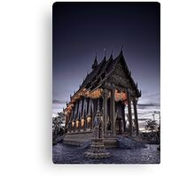 Temple by night Canvas Print