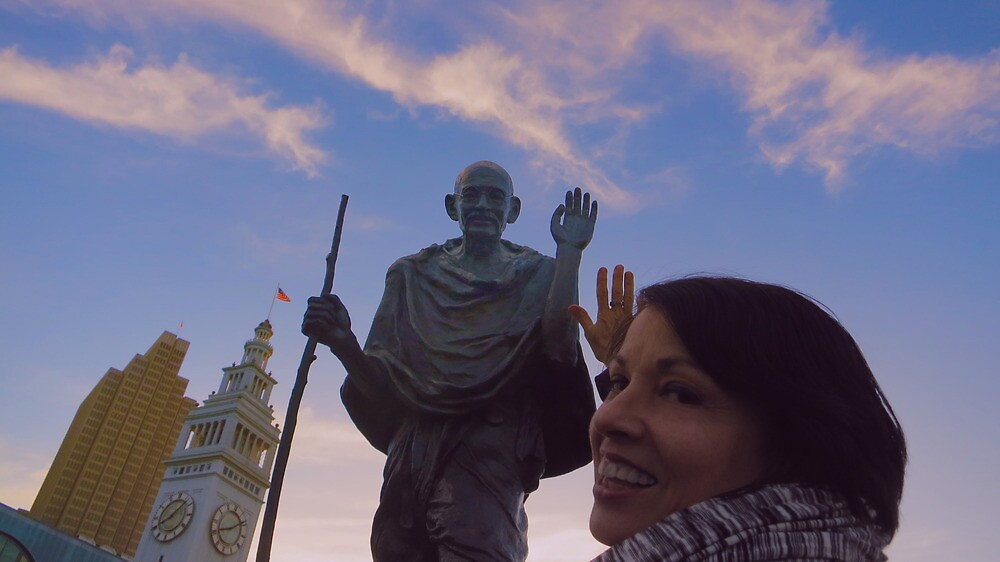 The Ferry Building - Gandhi and Kathy Peck Denny by David Denny
