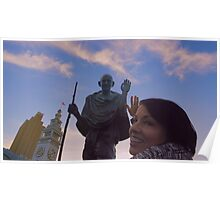 The Ferry Building - Gandhi and Kathy Peck Denny Poster