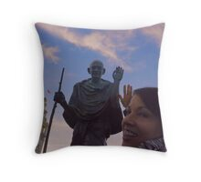 The Ferry Building - Gandhi and Kathy Peck Denny Throw Pillow