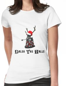Dalek The Halls - Reindeer dalek santa Womens Fitted T-Shirt