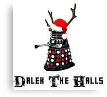 Dalek The Halls - Reindeer dalek santa Canvas Print