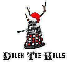 Dalek The Halls - Reindeer dalek santa Photographic Print