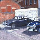 Mini And Jaguar. by Antony R James