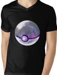 Galaxy Pokeball. Mens V-Neck T-Shirt