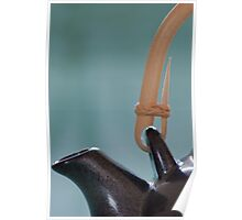 Japanese teapot handle and spout Poster