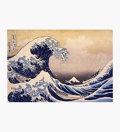 The Great Wave off Kanagawa by Katsushika Hokusai (c 1830-1833) Photographic Print