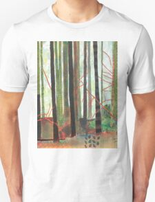 Embroidered Forest, mixed media and zentangles T-Shirt