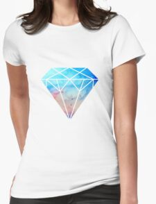 galaxy diamond Womens Fitted T-Shirt