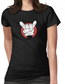 Metal Mouse  Womens Fitted T-Shirt