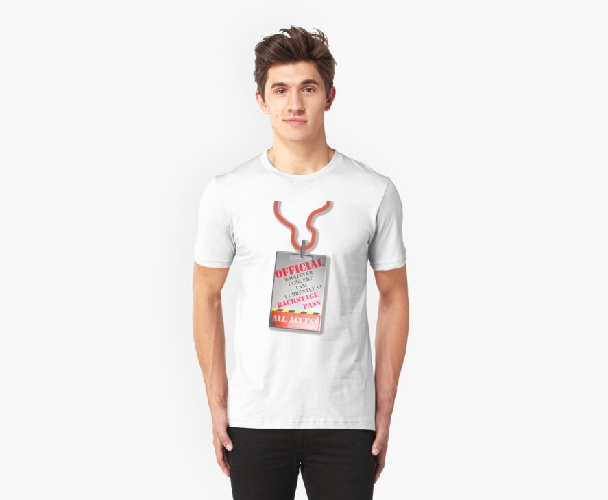 Every Concert Backstage Pass by mytshirtfort