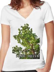 I love trees Tee/Hoodie Women's Fitted V-Neck T-Shirt