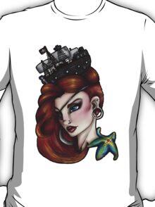 Nautical Starfish Pirate Girl T-Shirt