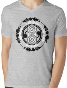 Circle of timey wimey Mens V-Neck T-Shirt