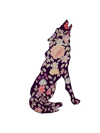 floral wolf vintage by bbygreentea