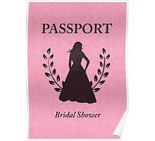 Bridal Shower Passport Invitation  Poster